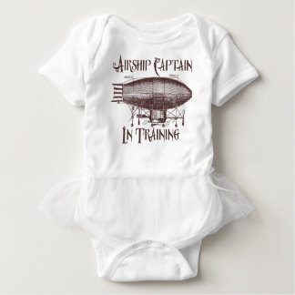 Body Para Bebê Capitão do dirigível no treinamento, Steampunk