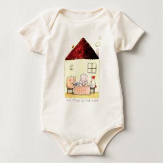 Body Para Bebê Capota de Rosalinde orgânica