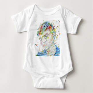 Body Para Bebê capote de truman - retrato da aguarela