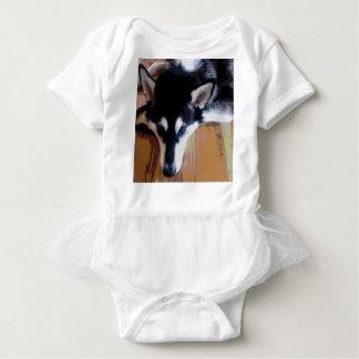 Body Para Bebê Cara bonito do Malamute do Alasca