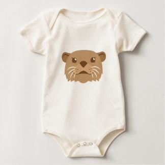 Body Para Bebê cara da lontra