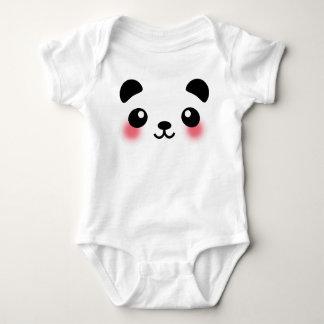 Body Para Bebê Cara da panda de Kawaii