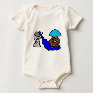 Body Para Bebê Cara de flutuação da pintura pistola