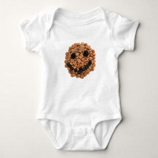Body Para Bebê Cara de sorriso bonito da fruta e do cereal