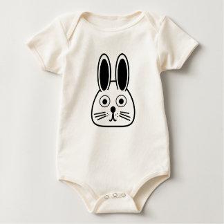 Body Para Bebê cara do coelho