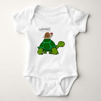 Body Para Bebê Caracol & tartaruga - duo de Turbo