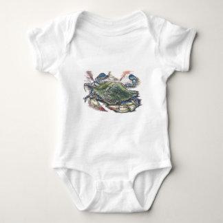 Body Para Bebê Caranguejo azul