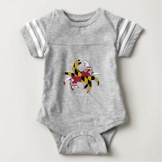 Body Para Bebê Caranguejo da bandeira de Maryland