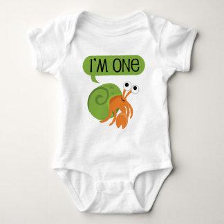 Body Para Bebê Caranguejo de eremita do aniversário dos miúdos