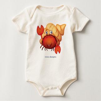 Body Para Bebê Caranguejo de eremita feliz