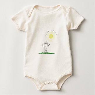 Body Para Bebê Caráter cristão bonito com escritura
