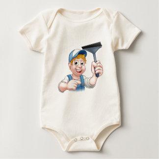 Body Para Bebê Caráter do rodo de borracha do líquido de limpeza