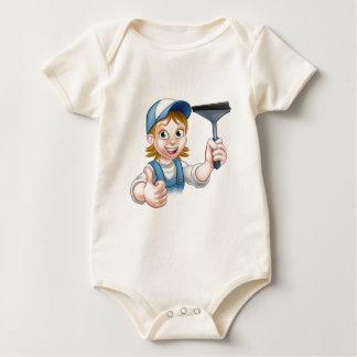 Body Para Bebê Caráter fêmea do líquido de limpeza de janela dos