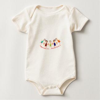 Body Para Bebê Caráteres gráficos com texto Happiness_is_Friends
