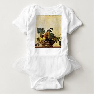 Body Para Bebê Caravaggio - cesta da fruta - trabalhos de arte