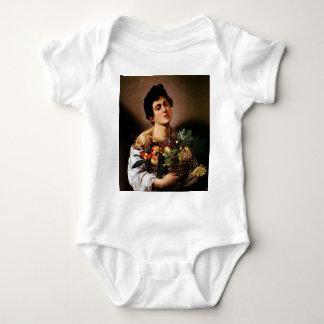 Body Para Bebê Caravaggio - menino com uma cesta de trabalhos de