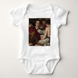 Body Para Bebê Caravaggio - músicos - trabalhos de arte clássicos
