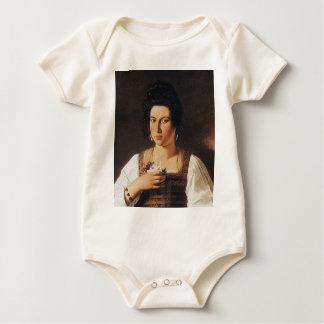 Body Para Bebê Caravaggio - retrato de uma pintura do Courtesan