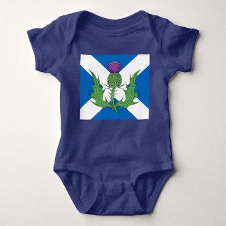 Body Para Bebê Cardo escocês e Saltire