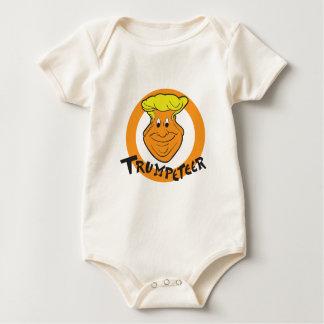 Body Para Bebê Caricatura de Donald Trumpeteer
