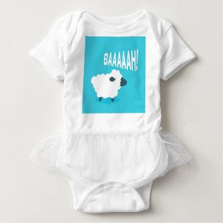 Body Para Bebê Carneiros azuis engraçados bonitos do balido dos