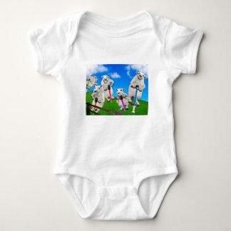 Body Para Bebê Carneiros de salto