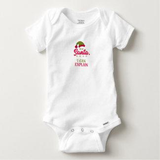 Body Para Bebê Caro Papai noel, eu posso explicar