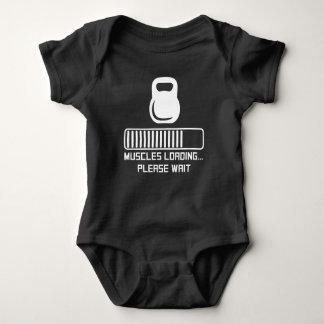 Body Para Bebê Carregamento dos músculos