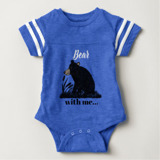 """Body Para Bebê """"Carregue comigo""""… o urso preto na noite"""