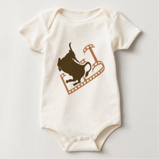 Body Para Bebê Carretel de filme Bucking de Bull