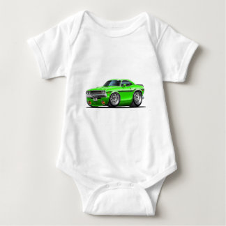 Body Para Bebê Carro 1970-72 verde do desafiador