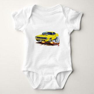 Body Para Bebê Carro 1970 amarelo de Cuda