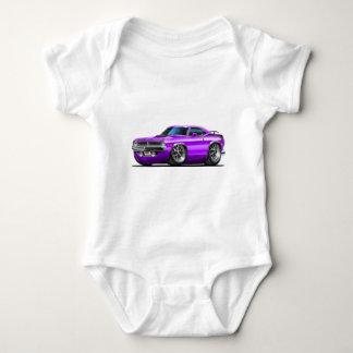 Body Para Bebê Carro 1970 do roxo de Plymouth Cuda