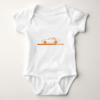 Body Para Bebê Carro 1971-72 da laranja do Roadrunner