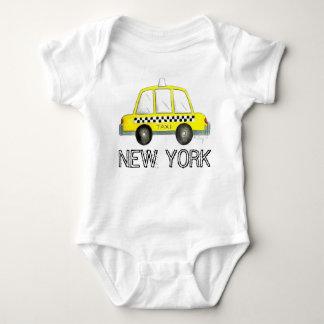 Body Para Bebê Carro Checkered do táxi do táxi amarelo da Nova