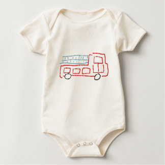 Body Para Bebê Carro de bombeiros