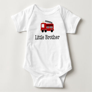 Body Para Bebê Carro de bombeiros do irmão mais novo