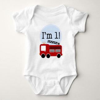 Body Para Bebê Carro de bombeiros do primeiro aniversario