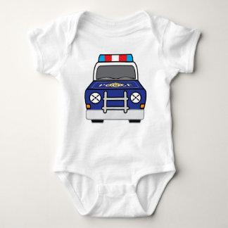 Body Para Bebê Carro-patrulha azul corajoso da polícia