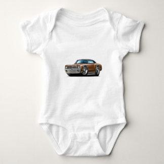 Body Para Bebê Carro superior Brown-Preto de Monte 1970 - de