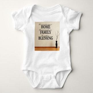 Body Para Bebê Casa + Família = bênção