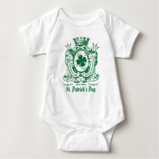 Body Para Bebê Casaco do trevo de Bodysuits do dia de St Patrick