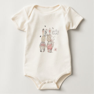Body Para Bebê casal banny 2 do coelho