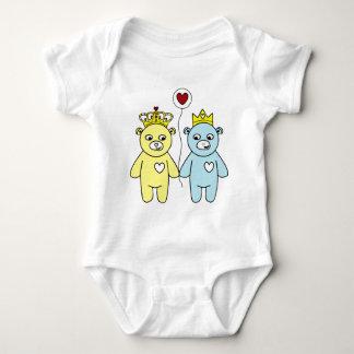 Body Para Bebê casal do urso de ursinho