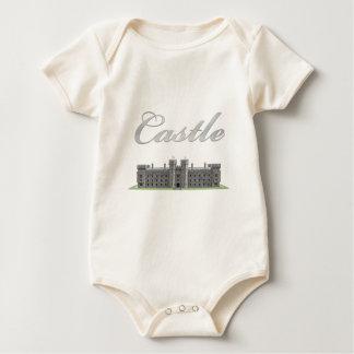 Body Para Bebê Castelo britânico clássico com texto do castelo
