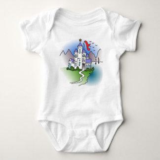 Body Para Bebê Castelo e montanhas