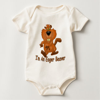 Body Para Bebê Castor ansioso