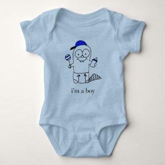 Body Para Bebê Castor do bebê azul para um menino