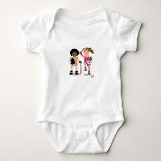 Body Para Bebê Cavaleiro das meninas para fora