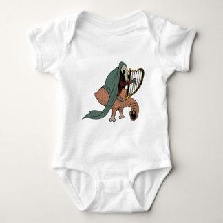 Body Para Bebê Cavaleiro escuro que joga a harpa